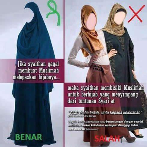 hijab-jilbab-baju-muslimah-syar'i-benar-dan-salah